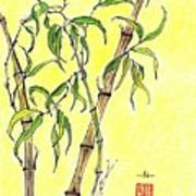 Sunny Bamboo Poster