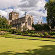 Sunny Day At Hexham Abbey Poster