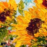 Sunny Day Sunflowers Poster by Barbara Pirkle