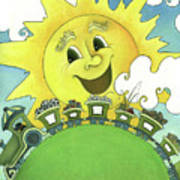 Sunny Day Train Poster