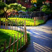 Sunny Garden Path Poster