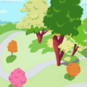 Sunnyside Park In The Spring Poster