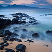Sunrise At Ho'okipa - Sunrise At Hookipa Beach In Maui Poster