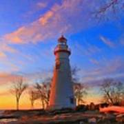 Sunrise At Marblehead Lighthouse Panorama Poster