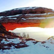 Sunrise At Mesa Arch Poster