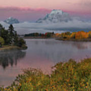 Sunrise At Oxbow Bend Poster