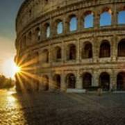 Sunrise At The Colosseum Poster