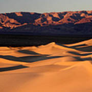 Sunrise At The Mesquite Sand Dunes Poster