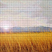 Sunrise Field 1 - Mosaic Tile Effect Poster