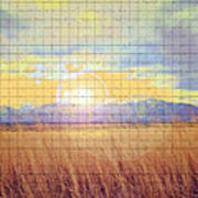 Sunrise Field 2 - Mosaic Tile Effect Poster