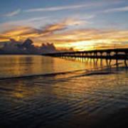 Sunrise Fort Clinch Pier Poster