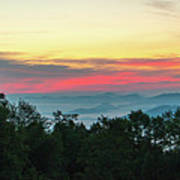 Sunrise From Maggie Valley August 16 2015 Poster