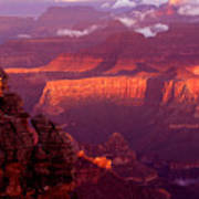 Sunrise From Mather Point Poster