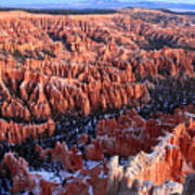Sunrise In Bryce Canyon Amphitheater Poster