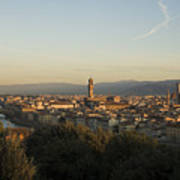 Sunrise In Florence Poster