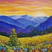 Sunrise In The Mountains Poster