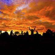 Sunrise Landscape In Tanzania Poster