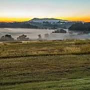 Sunrise Landscape Over Morganton Town In  North Carolina  Poster
