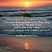 Sunrise Love Scripture Poster