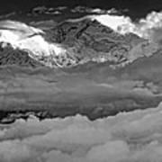 Sunrise On Kanchenjunga Bw Poster