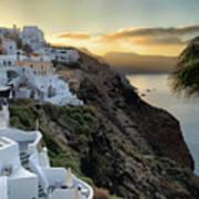 Sunrise On Santorini Poster