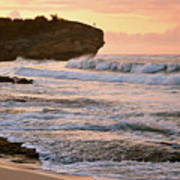 Sunrise On Shipwreck Beach Poster
