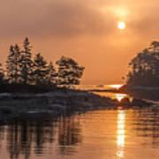 Sunrise On The Coast Poster