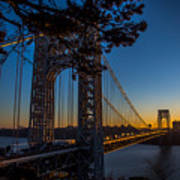 Sunrise On The Gwb, Nyc - Landscape Poster