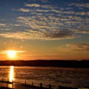 Sunrise On The Mississippi Poster