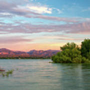 Sunrise Over A Colorado Lake  Poster