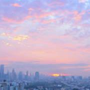Sunrise Over Bangkok Poster