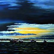 Sunrise Over Boulmer Beach Poster