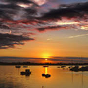 Sunrise Over City Island Poster