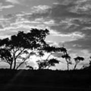 Sunrise Over Fort Salonga B W Poster