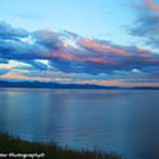 Sunrise Over Lake Yellowstone Poster