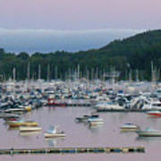 Sunrise Over Mallets Bay Panorama - Two Poster