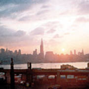 Sunrise Over Nyc Poster