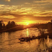 Sunrise Over  Payette River Poster