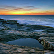 Sunrise Over Pemaquid Point Poster
