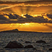 Sunrise Over Rabbit Head Island Poster
