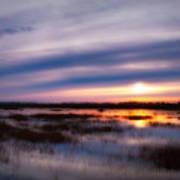 Sunrise Over The Salt Marsh Poster