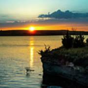 Sunrise Over Wilson Lake Poster