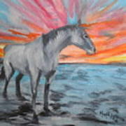 Sunrise Pony Poster
