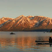 Sunrise Reflections On Colter Bay Poster