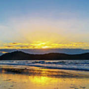 Sunrise Seascape And Crepuscular Rays Poster