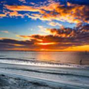 Sunrise Serenades The Beach Poster