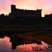 Sunrise Silhouetting Dunvegan Castle S Poster