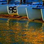 Sunrise / Sunset / Sailboats Poster