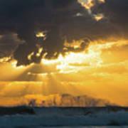 Sunrise Surf Spray Delray Beach Florida Poster