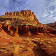 Sunrise The Castle Capitol Reef National Park Utah Poster